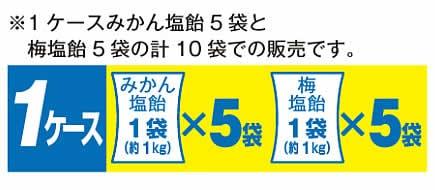 熱中症対策商品 みかん塩飴&梅飴(各5袋入/合計10袋)