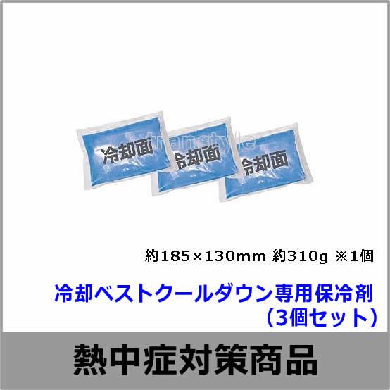 【熱中症対策/暑さ対策】 冷却ベストクールダウン専用保冷剤(3個セット)