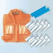 【熱中症対策/暑さ対策】 クールベスト クールガード III 型 (保冷剤を凍らせて使用)【作業/炎天下/クールベスト/体を冷やす】