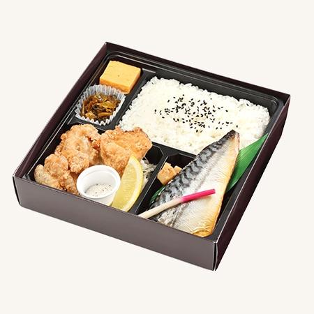 焼鯖西京吟醸漬け&鶏唐揚げ弁当