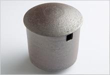 茶こし受け 黒陶 陶器|小