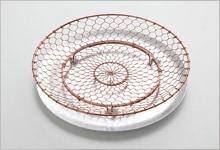 手編み水切り皿セット 銅