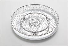 手編み水切り皿セット ステンレス