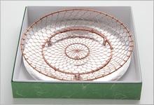 手編み水切り皿セット(箱入り) 銅