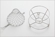 手編みコーヒードリッパ—|ステンレス(大 1〜4杯用)