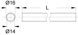 LINERO レール寸法図