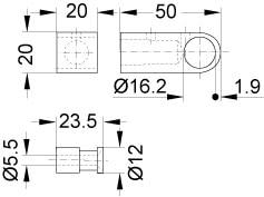 ホルダー(ブラケット)寸法図