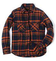 #501654 エクストラヘビーネルシャツ オレンジ