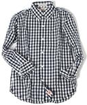 コードギンガムチェックシャツ ネイビー