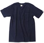 丸胴 ポケット付きVネックTシャツ