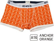 UES BOXER BRIEFS ANCHOR ORANGE