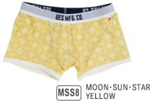 UES BOXER BRIEFS MOON・SUN・STAR YELLOW