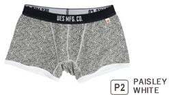 UES BOXER BRIEFS PAISLEY WHITE