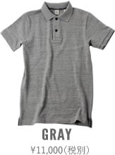 67LW UESポロシャツ 杢グレー