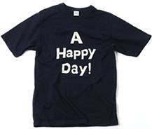 完全予約生産品 A HAPPY DAYインディゴTシャツ 大人サイズ