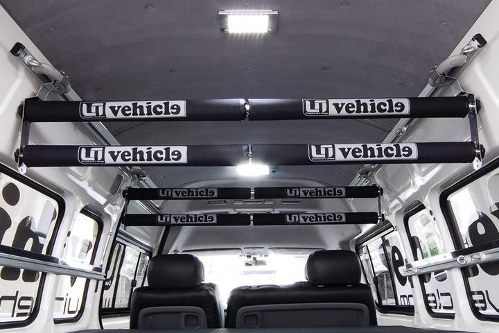ユーアイビークル/UIvehicle ハイエース/HIACE ルームキャリア移動レール 4本積みアタッチメント