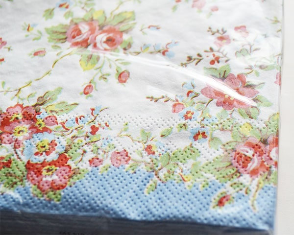 Cath Kidston ランチナプキン/Bleached Summer Blossom blue