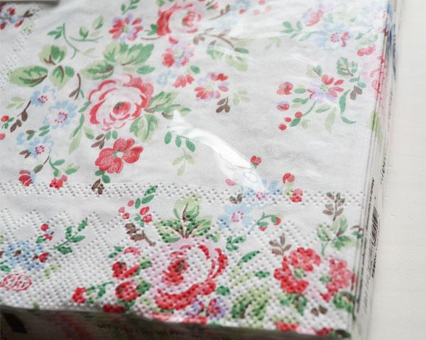 Cath Kidston ランチナプキン/Chelsea Roses white