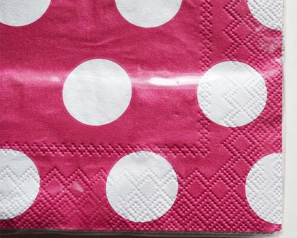 紙ナプキン/Big Dots pink