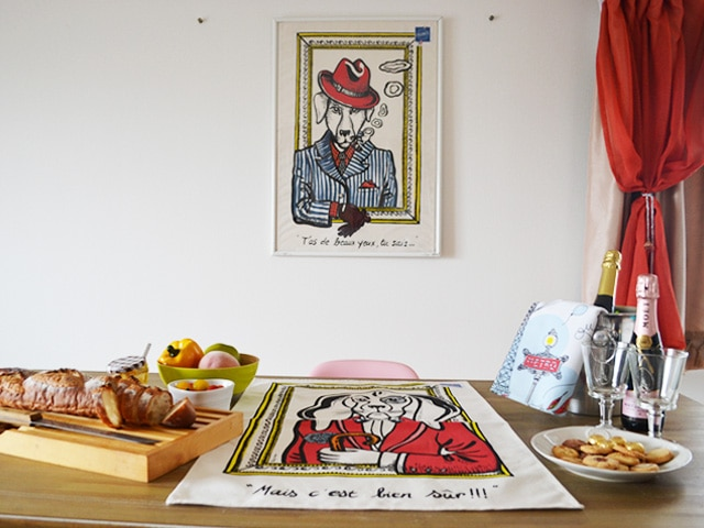 フランス・犬のおしゃれなポスター
