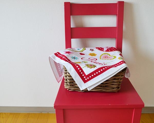 かごのカバーに使うキッチンクロス