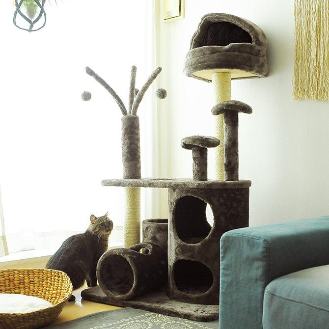 PAW-PAW  CAT PLAYGROUND キャットタワー /据え置き/おしゃれ