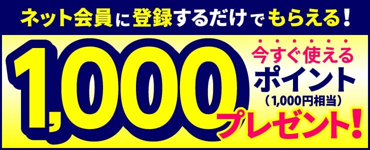 新規会員登録で、もれなく今すぐ使える500ポイントプレゼント!