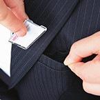 Wネームループ付き胸ポケット