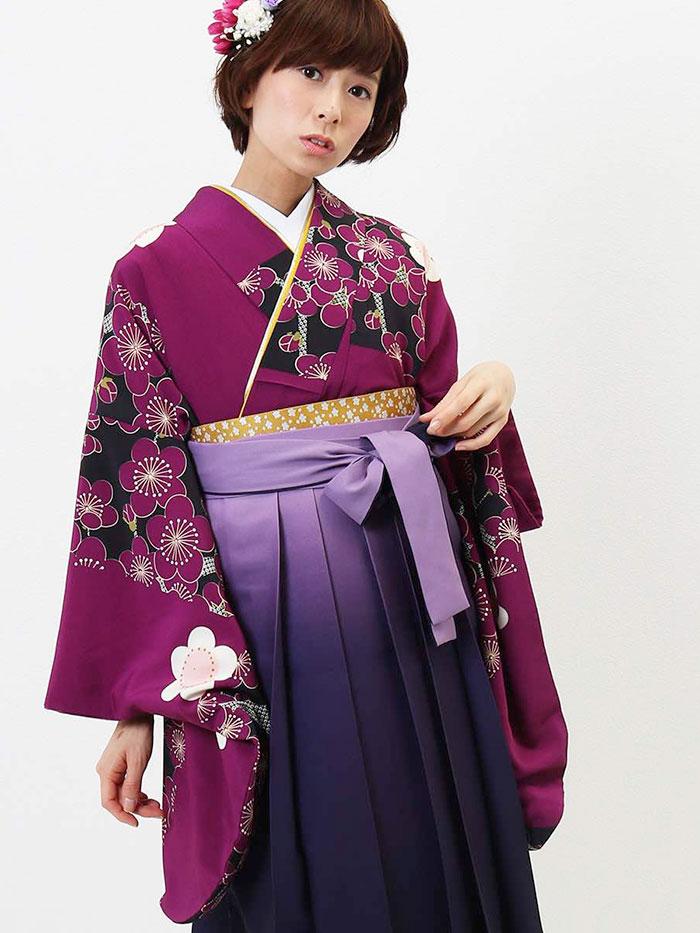 卒業式レンタル袴セット全体画像1