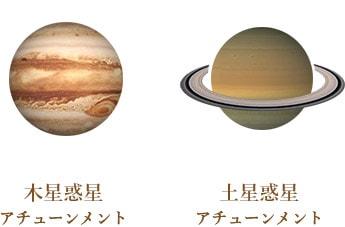 木星惑星 アチューンメント 土星惑星 アチューンメント