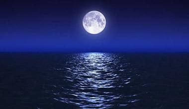 月と水の力で邪気を洗い流す