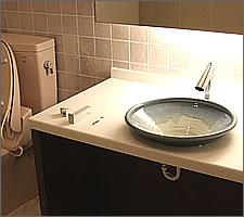 洗面ボウルの設置例55