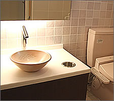 洗面ボウルの設置例56