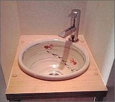 洗面ボウルの設置例61