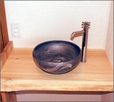 洗面ボウルの設置例68