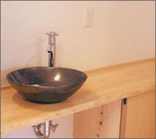 洗面ボウルの設置例69