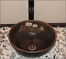 洗面ボウルの設置例76