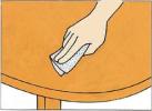 サンドペーパーをかけたら仕上げの塗装をします