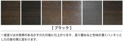 ブラック塗装サンプル