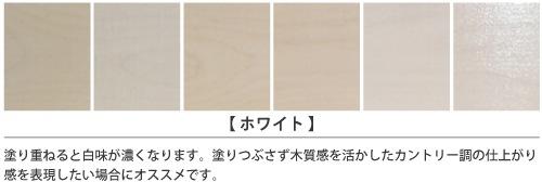 ホワイト塗装サンプル