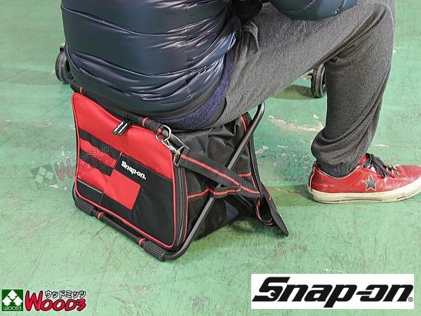 Snap-on ツールバッグ 折りたたみ式チェアーバッグ 座れちゃう工具バッグ