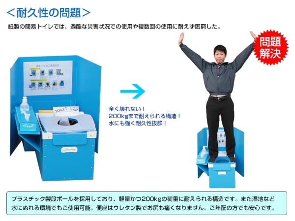 緊急災害用仮設トイレシステム 耐久性の問題解決!