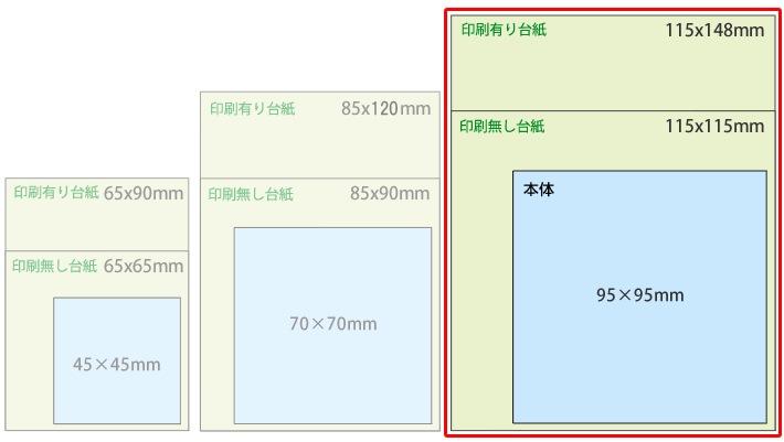 台紙:115×148mm