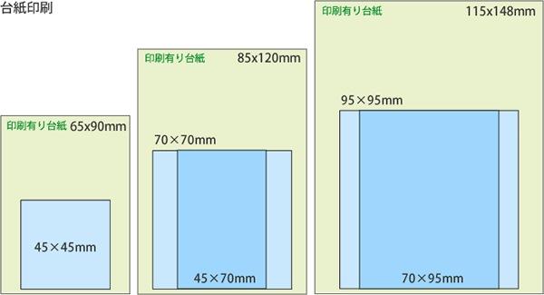 ・45×45mm/用( 65× 90mm )<br> ・45×70mm/70×70mm用( 85×120mm) ・70×95mm/95×95mm用(115×148mm)