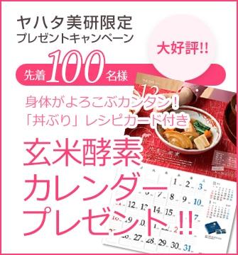 ヤハタ美研限定プレゼントキャンペーン 玄米酵素オリジナル12のスープレシピ付カレンダー2017