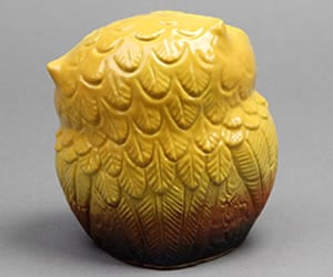 信楽焼きふくろう 陶器フクロウ やきもの梟置き物 しがらき