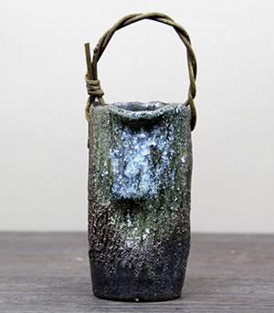 花瓶 花器 信楽焼き花入れ 陶器つぼ 一輪挿し しがらきやき