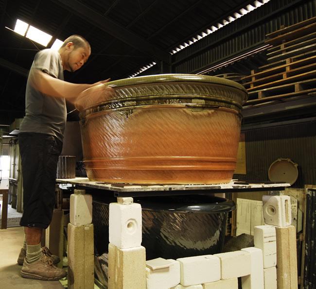 陶器浴槽 しがらきやき風呂 信楽焼 やきもの風呂桶