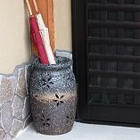 花彫り壷型