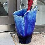 青ガラスひねり
